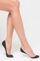 LEGS Следы женские 724 EXTRA LOW SILICONE BAND COTTON NERO
